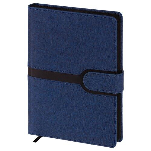 Купить Ежедневник OfficeSpace Denim недатированный, искусственная кожа, А5, 160 листов, синий, Ежедневники, записные книжки