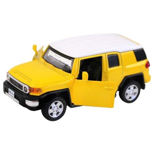 Купить Легковой автомобиль Автопанорама Toyota FJ Cruiser (J12282) 1:43 11.5 см желтый, Машинки и техника