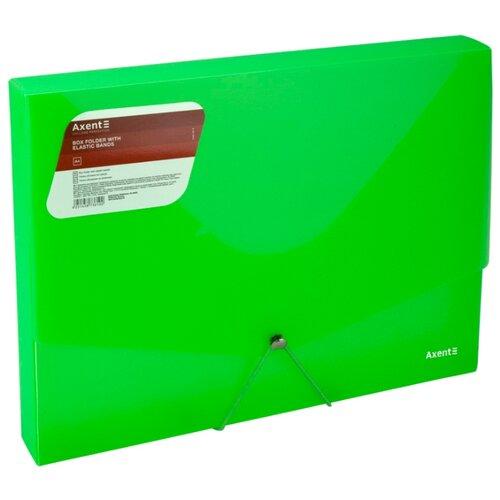 Axent Папка на резинке А4 объемная прозрачный зеленый albion папка на резинке basic цвет зеленый