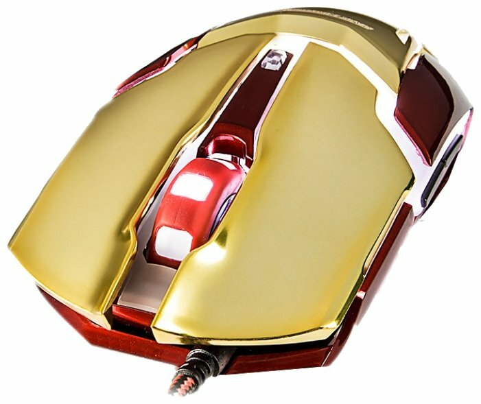 Мышь e-blue Auroza iron man 3 Red-Gold USB
