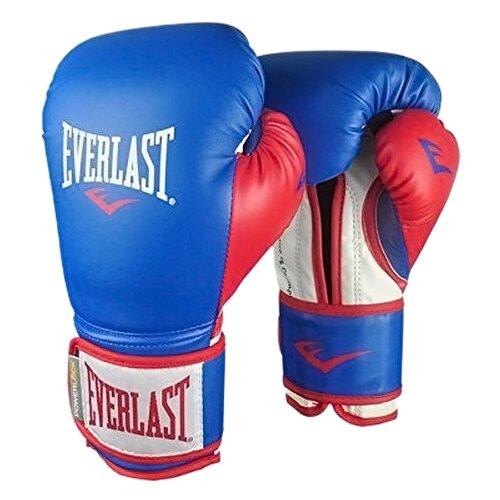 боксерские перчатки everlast pu pro style anti mb red 12 oz Боксерские перчатки Everlast Powerlock PU blue/red 14 oz