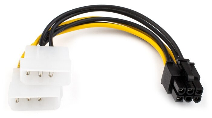 Кабель Atcom PCI-E 6-pin - 2 x 2-pin molex (AT6185) 0.15 м