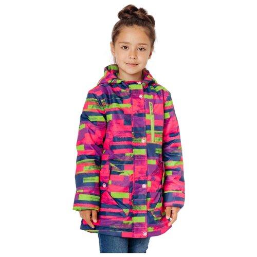 Куртка Ytro Д727 полоска размер 30/116, малиновыйКуртки и пуховики<br>