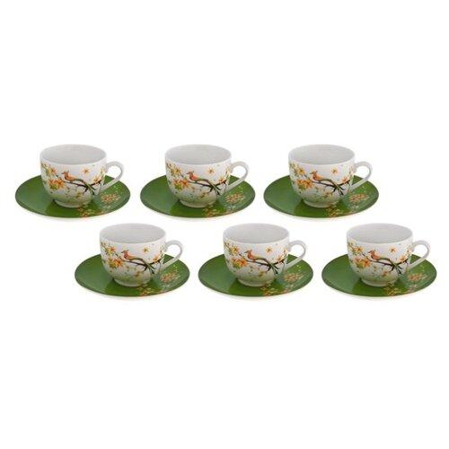 Чайный сервиз Domenik Paradise Bird 250 мл белый/зеленый domenik обеденная paradise bird 24 см