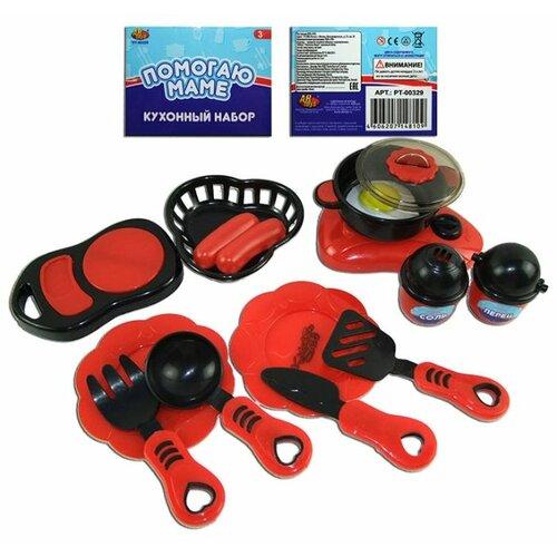 Купить Набор ABtoys Помогаю маме PT-00329 красный/черный, Детские кухни и бытовая техника