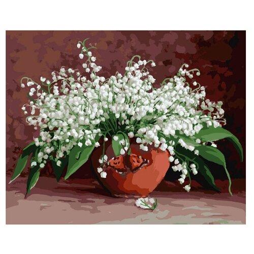 Купить Molly артина по номерам Ландыши 40х50 см (KH0157), Картины по номерам и контурам