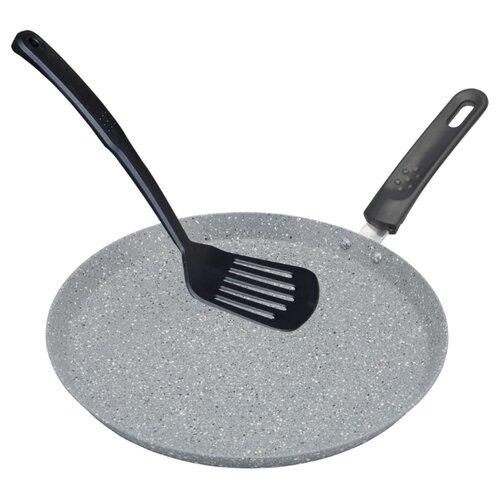 Сковорода блинная Bohmann BH-1010-26MRB 26 см, серый сковорода bohmann 372124вн серый диаметр 24 см