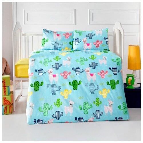 Arya комплект в кроватку Lama (4 предмета) бирюзовый коврик arya 60х100 2 пр assos бирюзовый 1126860