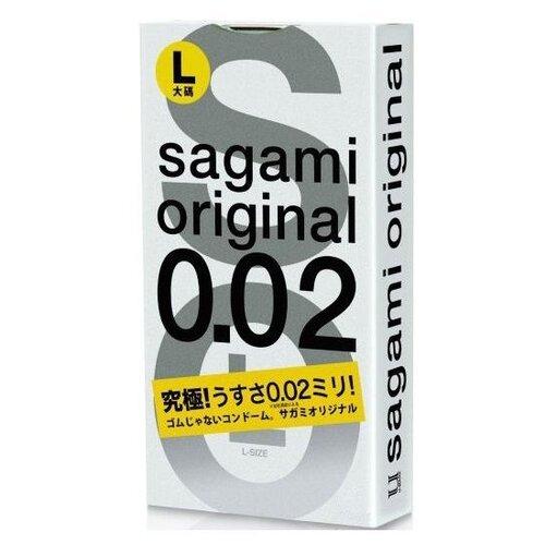Презервативы Sagami Sagami Original L-size (3 шт.) sagami 6 fit v premium 12шт презервативы супер облегающие латекс 0 06 мм