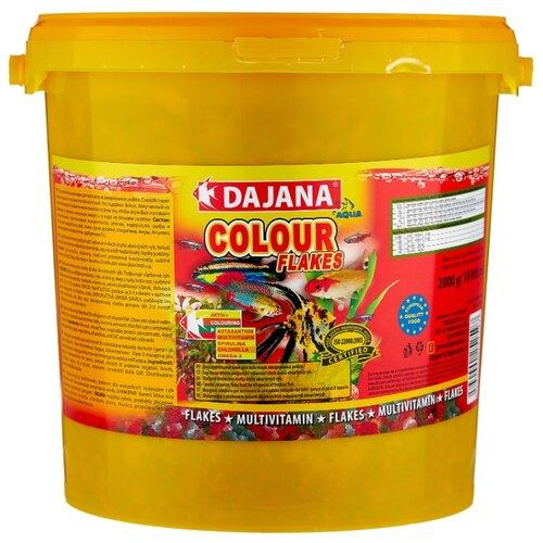 Сухой корм для рыб Dajana Pet Colour Flakes 10000 мл 2000 г сухой корм для рыб dajana pet malawi flakes 1000 мл 200 г