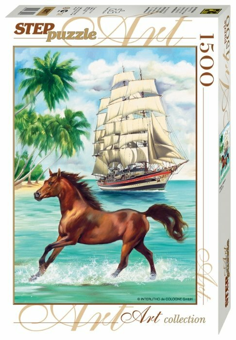 Пазл Step puzzle Art Collection Лошадь и парусник (83017), 1500 дет.
