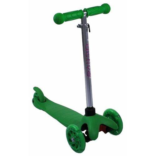 Детский кикборд Triumf Active Mini Up Flash SKL-06AH, зеленый детский кикборд triumf active mini up flash skl 06ah оранжевый