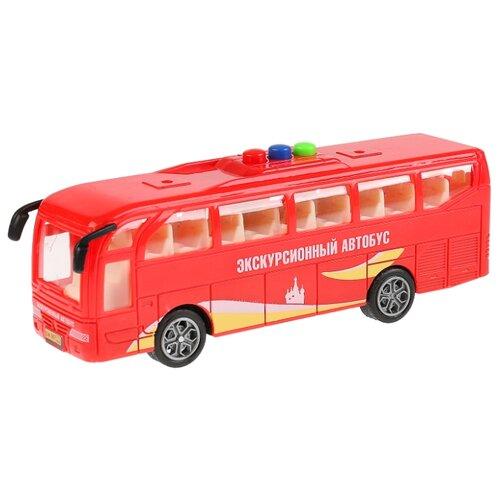 Купить Автобус ТЕХНОПАРК 1576685-R 17 см красный, Машинки и техника