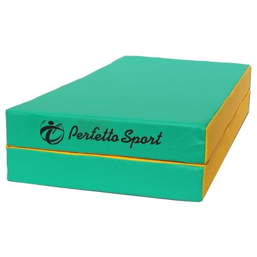Спортивный мат 1000х1000х100 мм Perfetto Sport № 3 зеленый/желтый