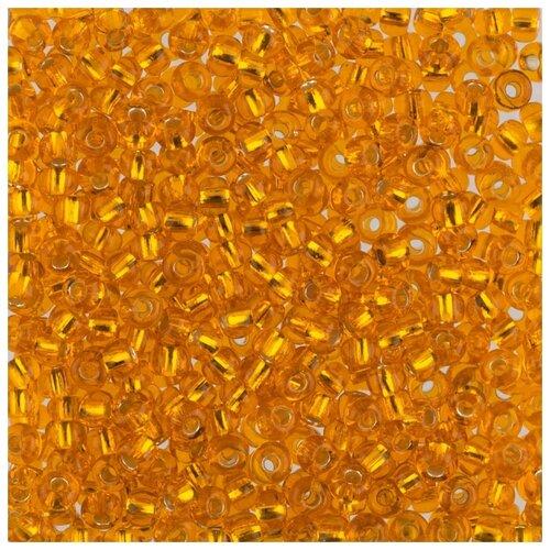 Купить Бисер круглый Gamma 6, 10/0, 2, 3 мм, 50 г, 1-й сорт, F149, рыжий, Фурнитура для украшений