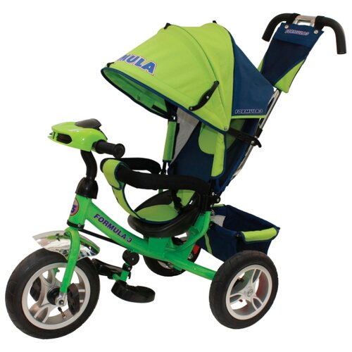 Фото - Трехколесный велосипед Formula FA3 Formula 3 зеленый полесье велосипед трехколесный дидактик 3 46598 цвет в ассортименте