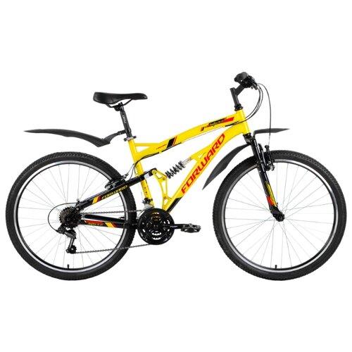 Горный (MTB) велосипед FORWARD Benfica 26 1.0 (2018) желтый/черный 18 (требует финальной сборки)Велосипеды<br>
