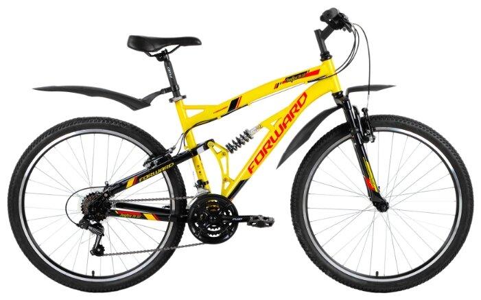 Горный (MTB) велосипед FORWARD Benfica 26 1.0 (2018) желтый/черный 18