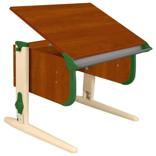 Купить Стол ДЭМИ СУТ-24 75x55 см яблоня/зеленый/бежевый, Парты и столы