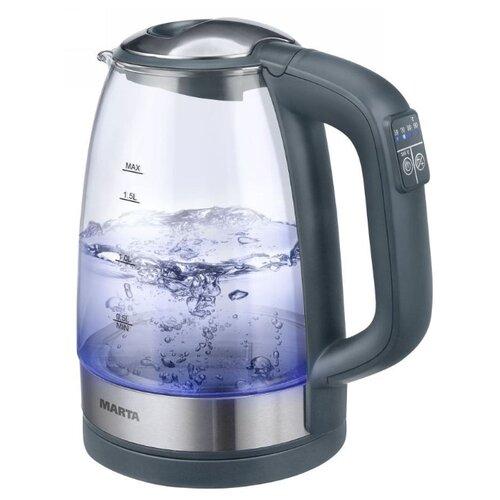 Чайник MARTA MT-1087, серый мрамор электрический чайник marta mt 1083 dark topaz