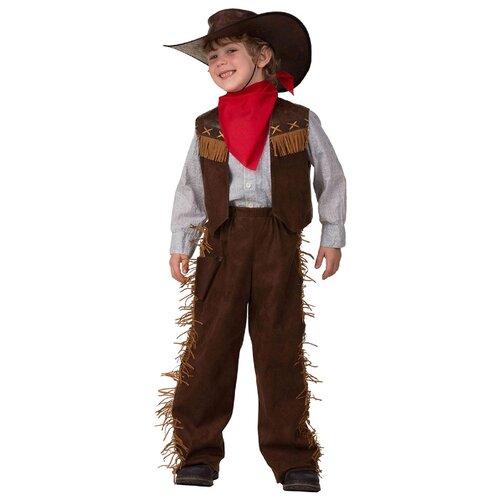 Купить Костюм Батик Ковбой (2018), коричневый/красный, размер 152, Карнавальные костюмы