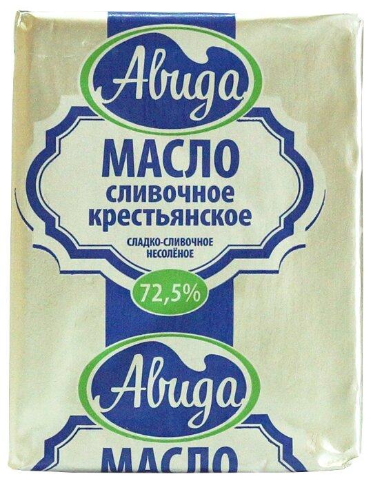 Авида Масло сливочное Крестьянское 72.5%, 180 г