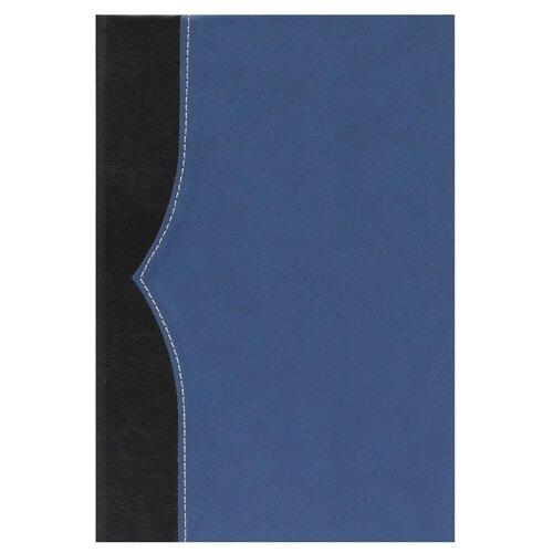 Купить Ежедневник Collezione Комбинедатированный, искусственная кожа, А5, 136 листов, черный/темно-синий, Ежедневники, записные книжки