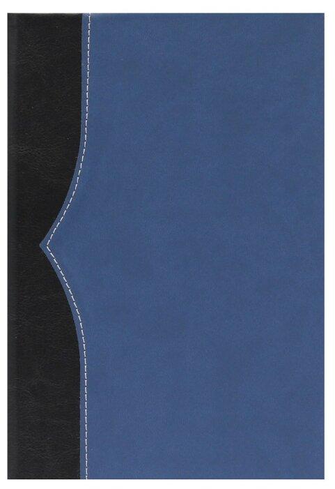 Ежедневник Collezione Комби недатированный, искусственная кожа, А5, 136 листов, черный/темно-синий