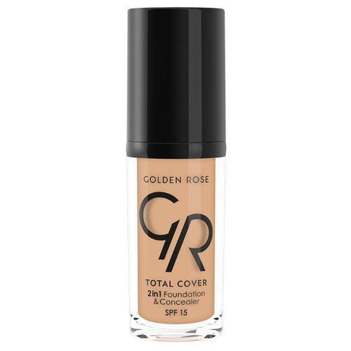 Golden Rose Тональный крем Total Cover 2in1 Foundation & Concealer, 30 мл, оттенок: 04-Beige