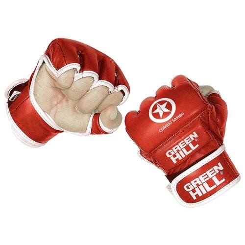 Перчатки Green hill COMBAT SAMBO MMR-0027CS для MMA красный M