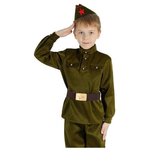 Купить Костюм Страна Карнавалия Военный (2277761-2277767), зеленый, размер 104, Карнавальные костюмы