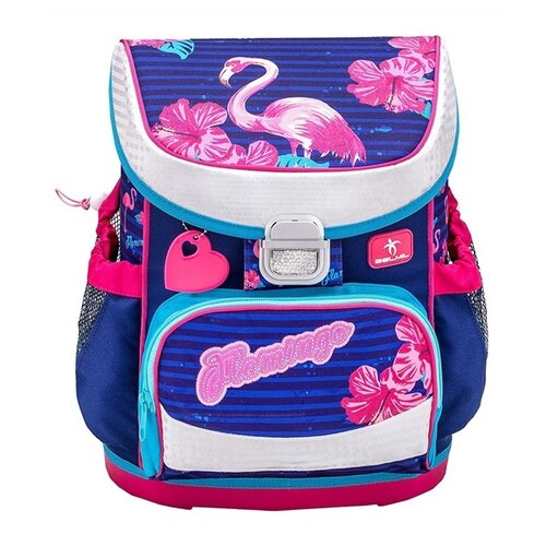 Купить Belmil Ранец Flamingo (405-33/704), синий/розовый, Рюкзаки, ранцы