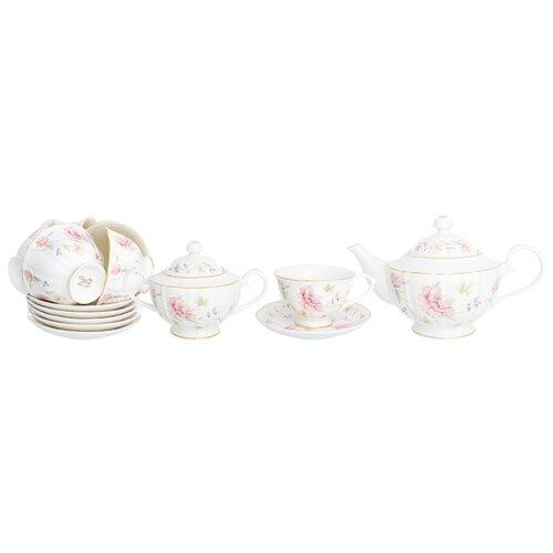 Чайный сервиз Elan gallery Диана, 6 персон белый