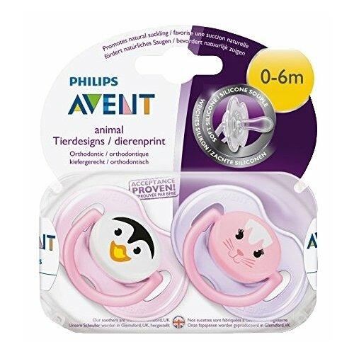Пустышка силиконовая анатомическая Philips AVENT Classic SCF182/13 0-6 м (2 шт) розовый