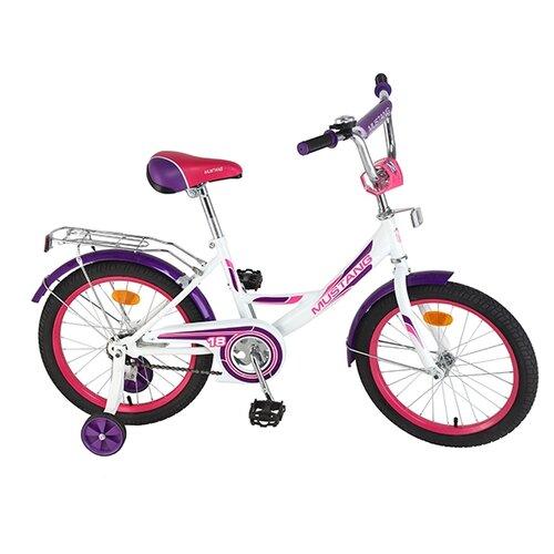 цена Детский велосипед MUSTANG ST18001-A белый-фиолетовый (требует финальной сборки) онлайн в 2017 году