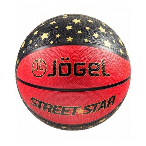 Баскетбольный мяч Jogel Street Star №7, р. 7 черный/красный