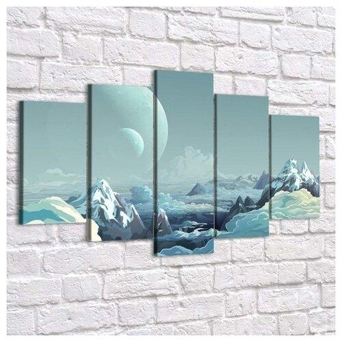 Картина Облачные Горы(Размер-M)синтетический холст