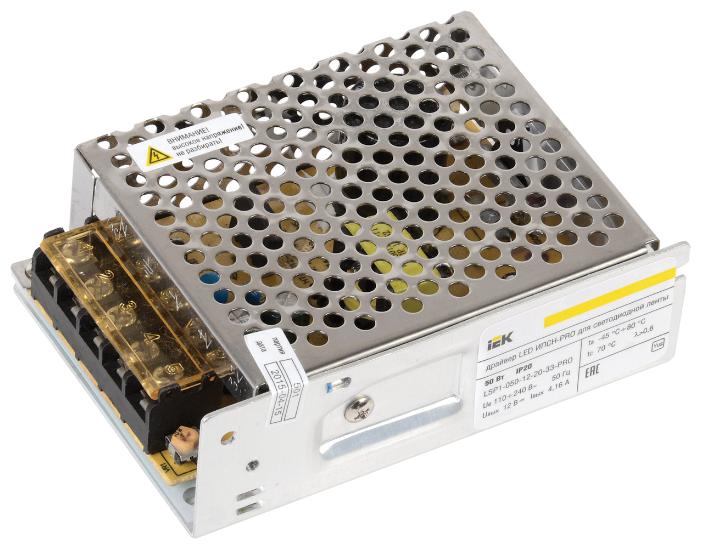 Блок питания для LED IEK LSP1-050-12-20-33-PRO 50 Вт