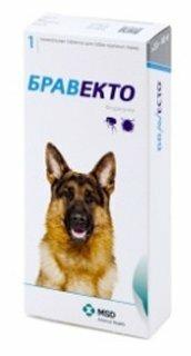 Препарат для собак INTERVET Бравекто от блох и клещей 20-40кг, 1таб на 3мес. 1000мг