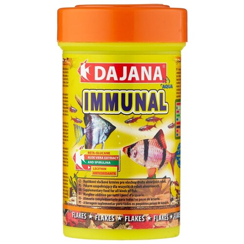 Сухой корм для рыб Dajana Pet Immunal 100 мл 20 г sera sera fd mixpur корм для рыб сублимированный мотыль трубочник дафния криль 100 мл