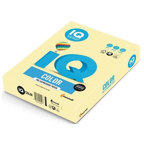 Бумага цветная IQ А3, 80 г, желтый, пачка 500 листов