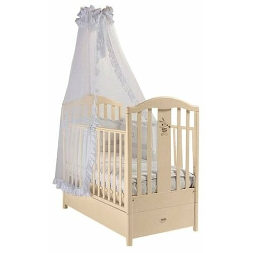 Купить Кроватка Feretti Ricordo FMS (классическая), продольный маятник слоновая кость, Кроватки