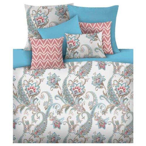Постельное белье 1.5-спальное Mona Liza Adila 50 х 70 см сатин голубой детское постельное белье mona liza детское постельное белье тэдди с подарком цвет голубой 145х210 см