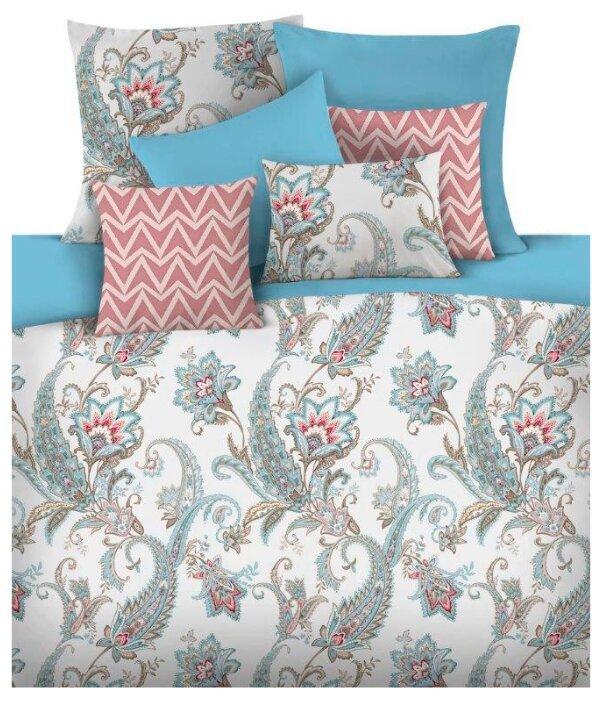Постельное белье 1.5-спальное Mona Liza Adila 50 х 70 см сатин голубой