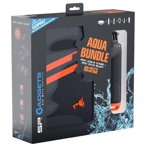 Фото - Набор SP Gadgets Aqua Bundle (кейс + поплавок) Аква 53090 для GoPro, Xiaomi, SJCAM, EKEN telesin монопод трансформер 3 way с ручкой поплавком для gopro xiaomi sjcam eken