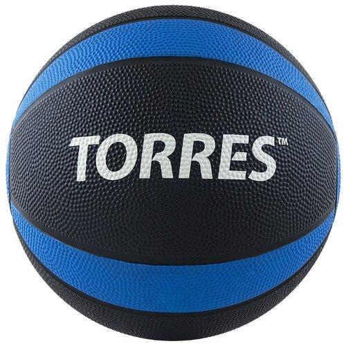 Медбол TORRES AL00223, 3 кг черный/синий/белый фото