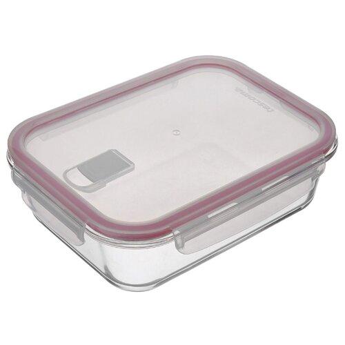 Фото - Tescoma Контейнер Freshbox Glass 0.6 л прямоугольный красный/прозрачный tescoma контейнер freshbox 2 л
