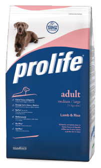 Корм для собак Prolife (3 кг) Adult Medium/Large с ягнёнком и рисом
