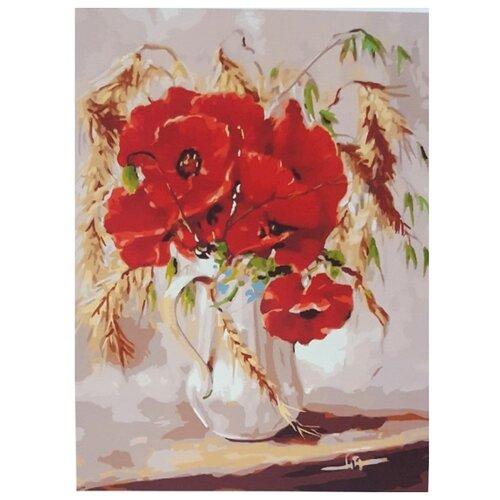 Купить Paintboy Картина по номерам Маки с пшеницей 40х50 см (GX22349), Картины по номерам и контурам