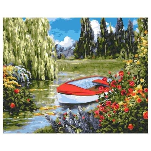 Купить Greenwich Line Картина по номерам Цветочная заводь , 40х50 см (КХ 30562), Картины по номерам и контурам